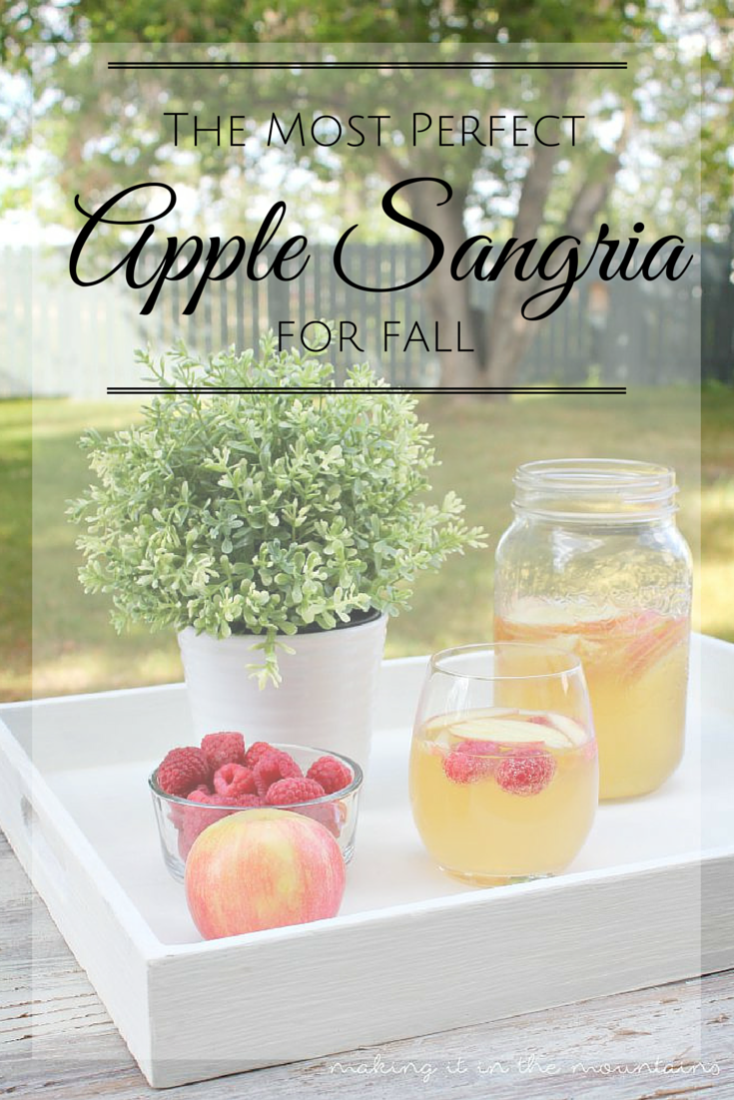 Summer Spotlight: Kristi from Making It In The Mountains - Apple Sangria