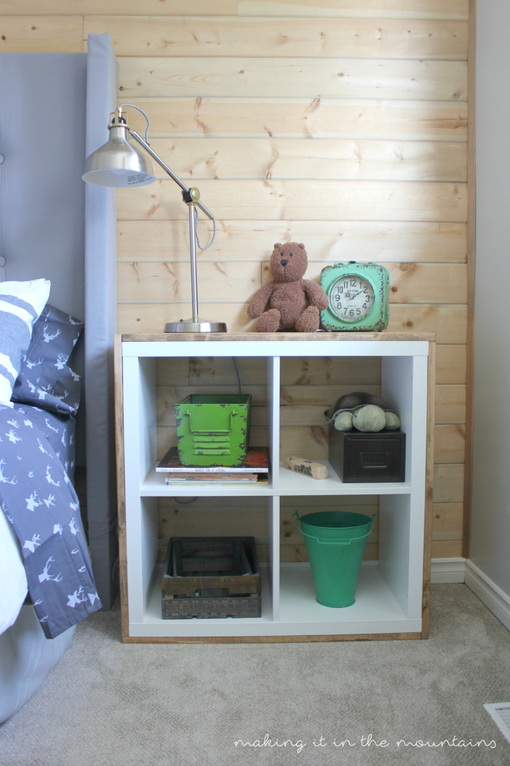 Summer Spotlight: Kristi from Making It In The Mountains - Wood Wrapped Ikea Shelf