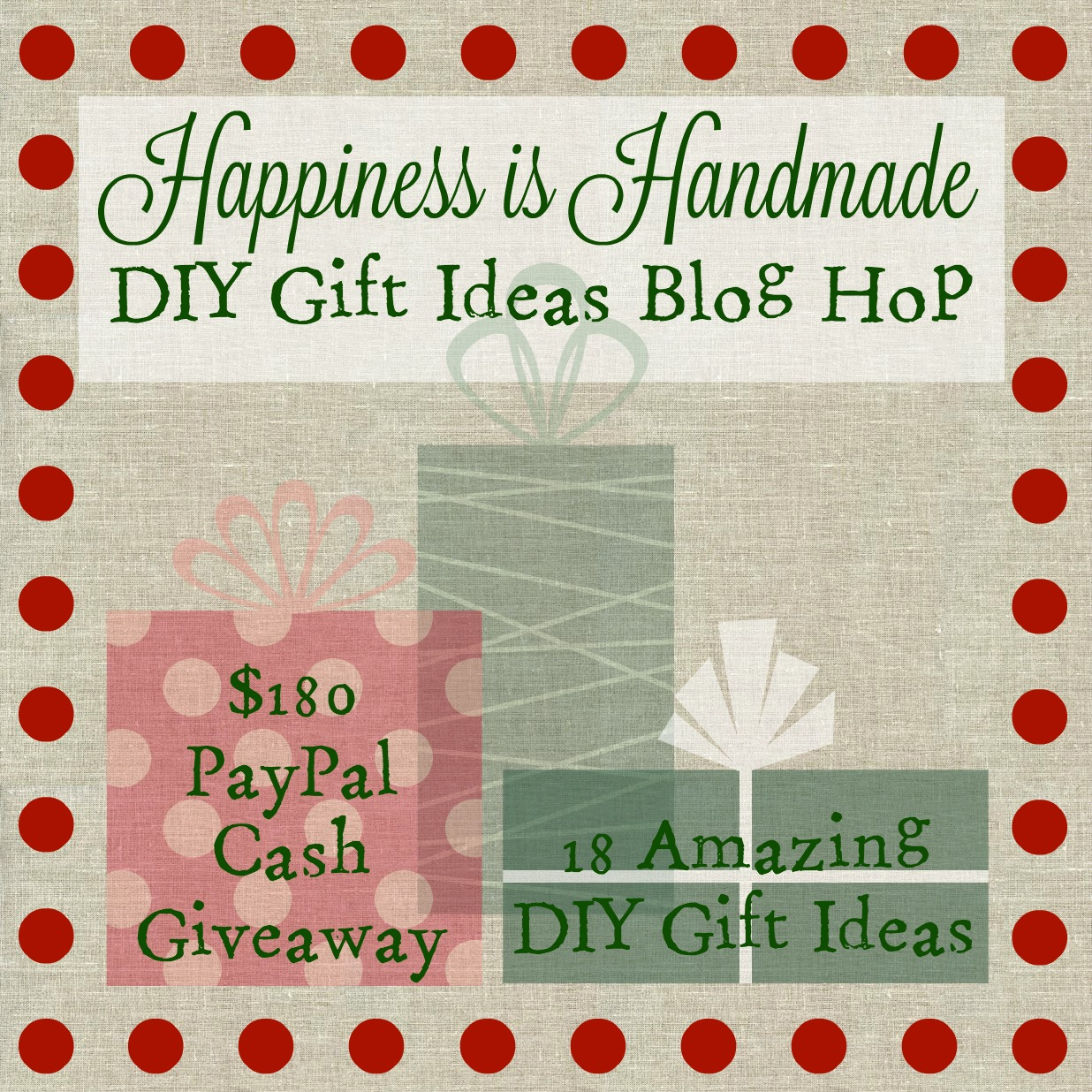 Happiness is Handmade DIY Gift Ideas Blog Hop 2015