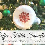 DIY Coffee Filter Snowflakes ~ Inexpensive Holiday Ornaments