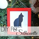 Pet Silhouette Gift for the Holidays