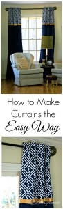 Learn how to make curtains ~ The Easy No-Sew Way! Follow this simple tutorial to make curtains that are totally customizable to your home decor! 3 Little Greenwoods