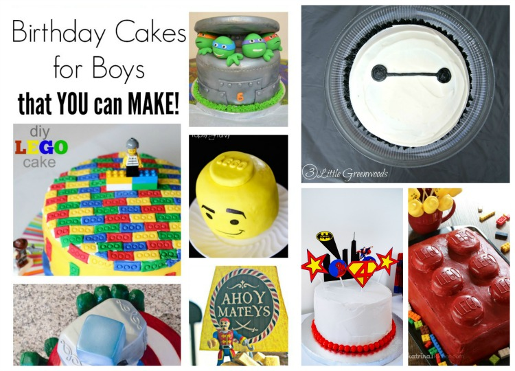MUST PIN resource for DIY Birthday Cakes for Boys that YOU can MAKE! This is an awesome roundup of Boys Birthday Cakes that you are going to love!