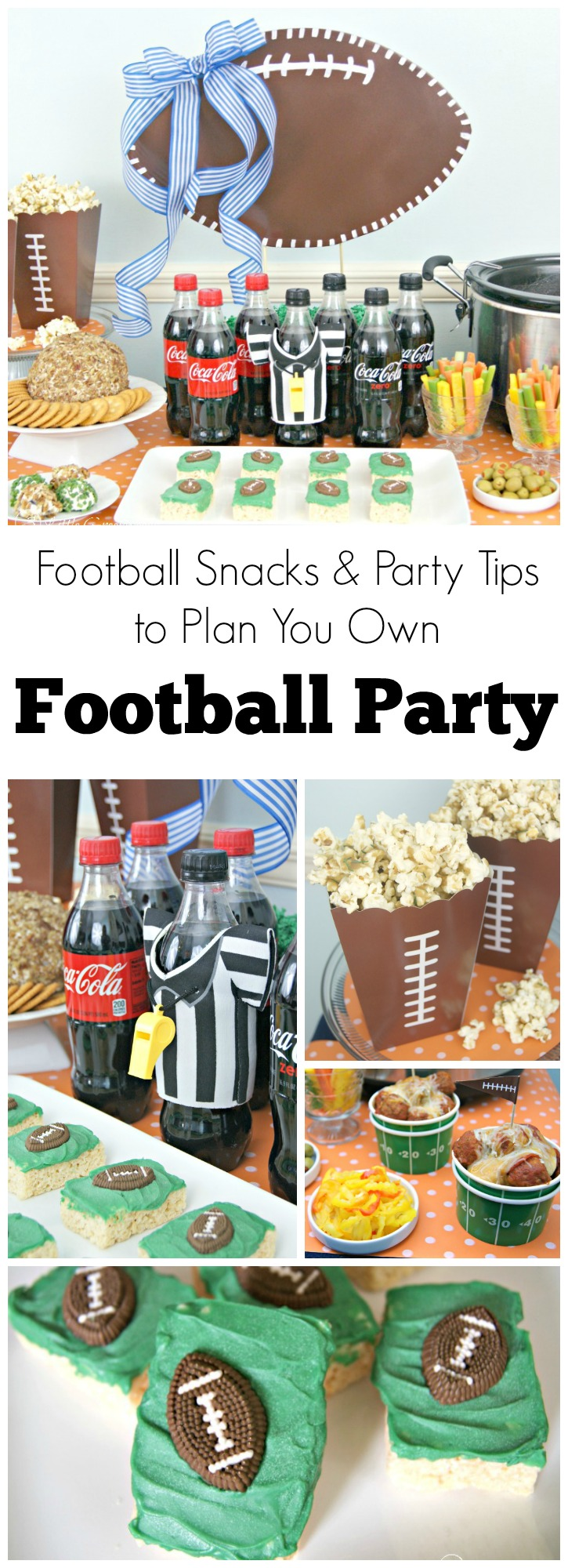 Ready for some football this weekend?? Me TOO!!! Check out these super easy Football Snacks and Party Tips for an awesome BIG GAME party! // 3 Little Greenwoods