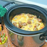 Meatball Pizza Bake ~ A Slow Cooker Recipe