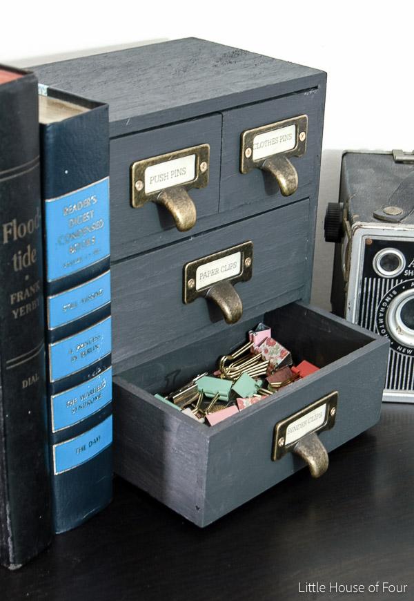 Wood Jewelry Box Turned Office Storage-1133
