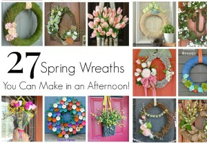 """MUST Pin collection of Easy to Make Wreaths for Spring! Nothing says """"Welcome Spring"""" like an easy wreath on your front door! Here is a collection of Easy Spring Wreaths to Make in an afternoon!"""