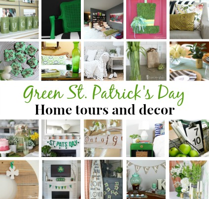 Green St. Patrick's Day Home Tours and Home Decor Blog Hop