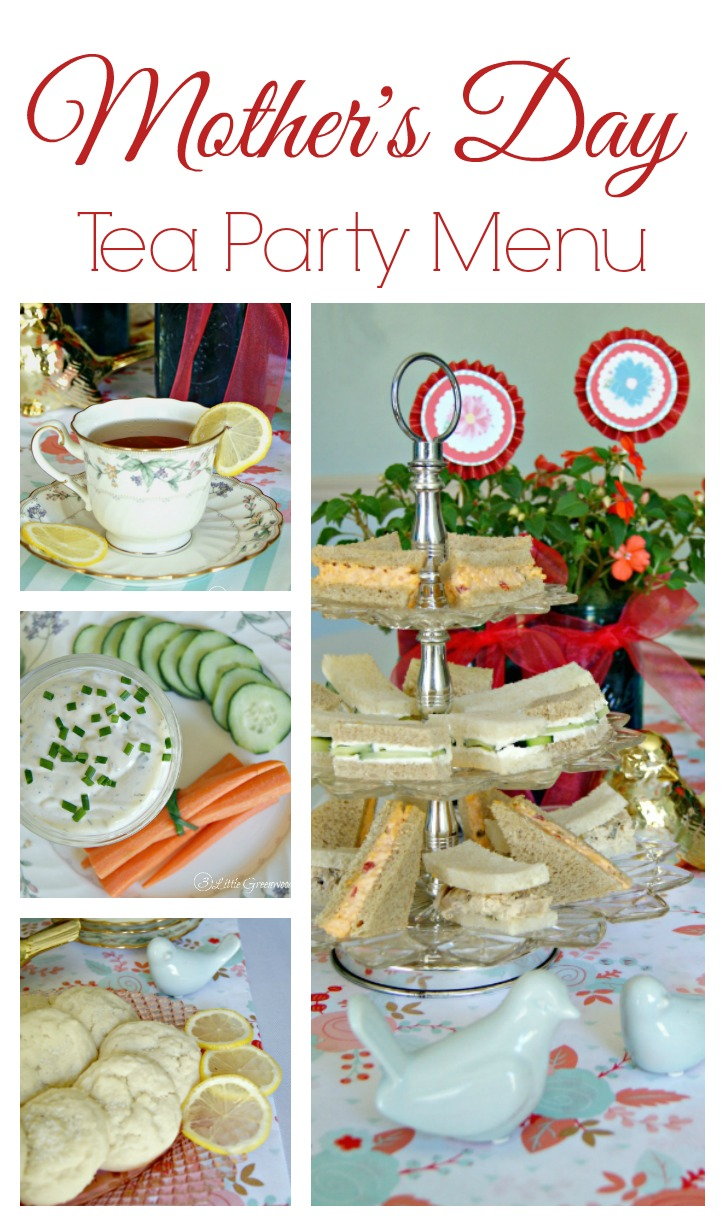 MUST PIN Simple Tea Party Menu for a Mother's Day Brunch! Want to host a tea party but don't know what to serve? Use this list of tea party food ideas! // 3 Little Greenwoods