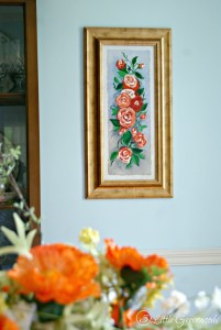 Awesome idea for those thrift store pictures! Love this DIY Wall Art with Paint by Numbers Technique!