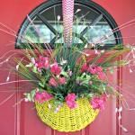 Craft My Stash ~ Upcycled Basket Wreath