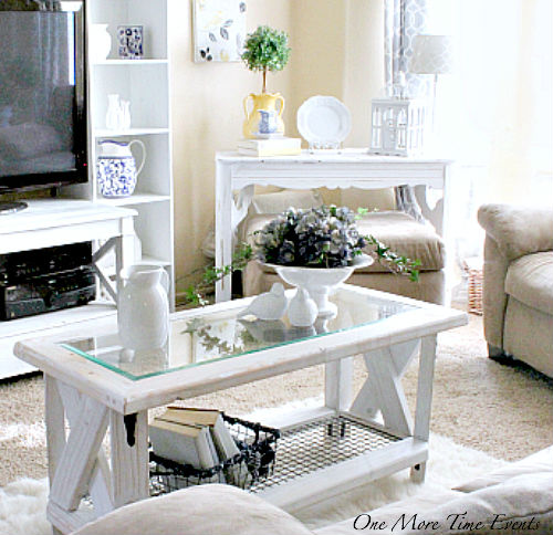 2X4 Farmhouse Coffee Table from One More Time Events