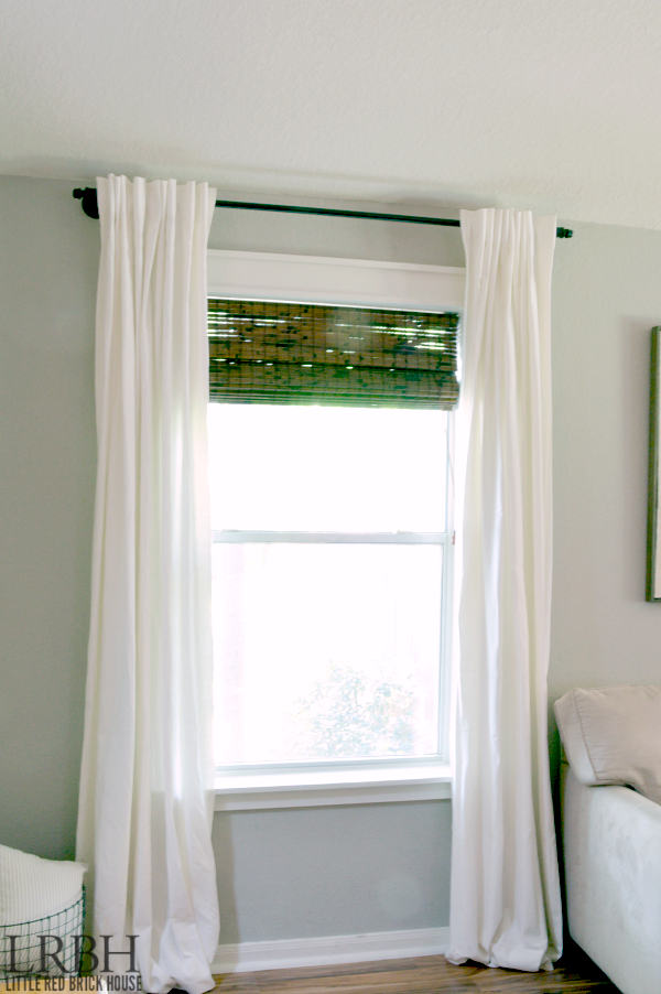 Galvanized Pipe Curtain Rod from The Little Red Brick House