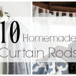 10 Homemade Curtain Rods You Can Make!