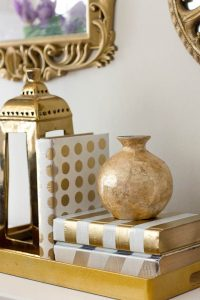 Metallic Painted Books from Savvy Apron