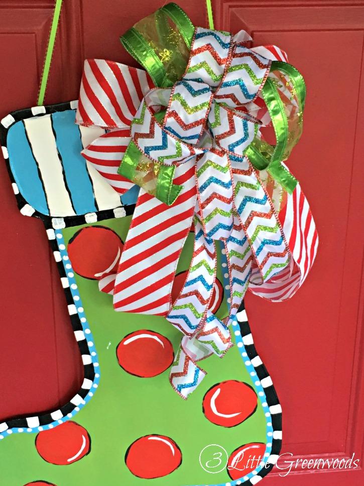 Christmas Diy Door Decor 3 Little Greenwoods