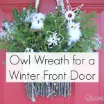 Owl Wreath for a Winter Front Door