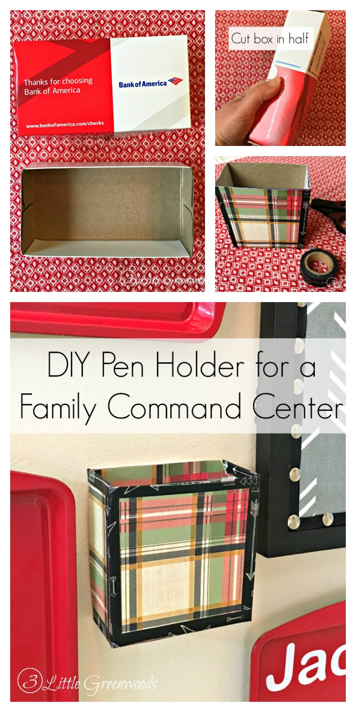 DIY Pen Holder || Family Command Center || Message Center