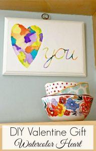 DIY Valentine Decor    Valentine's Day Gift    Watercolor Art