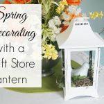 White Lantern Centerpiece from a Thrift Store Find