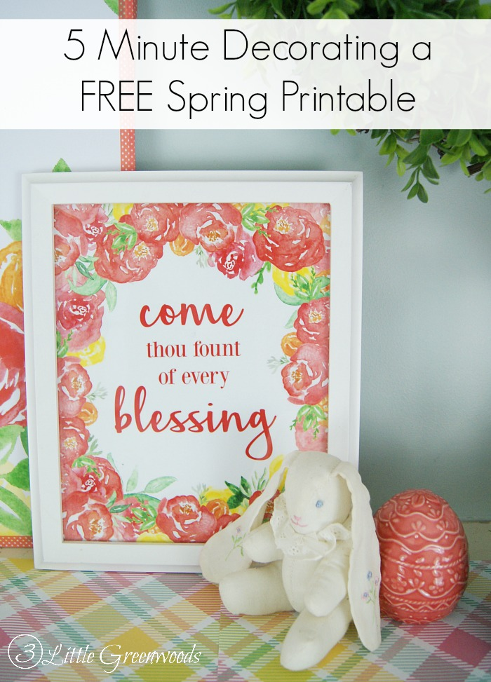 Come Thou Fount of Every Blessing Printable Add a touch of spring to your home easily and quickly with these beautiful hymn printables. Simply grab a frame and add a print in less than 5 minutes!