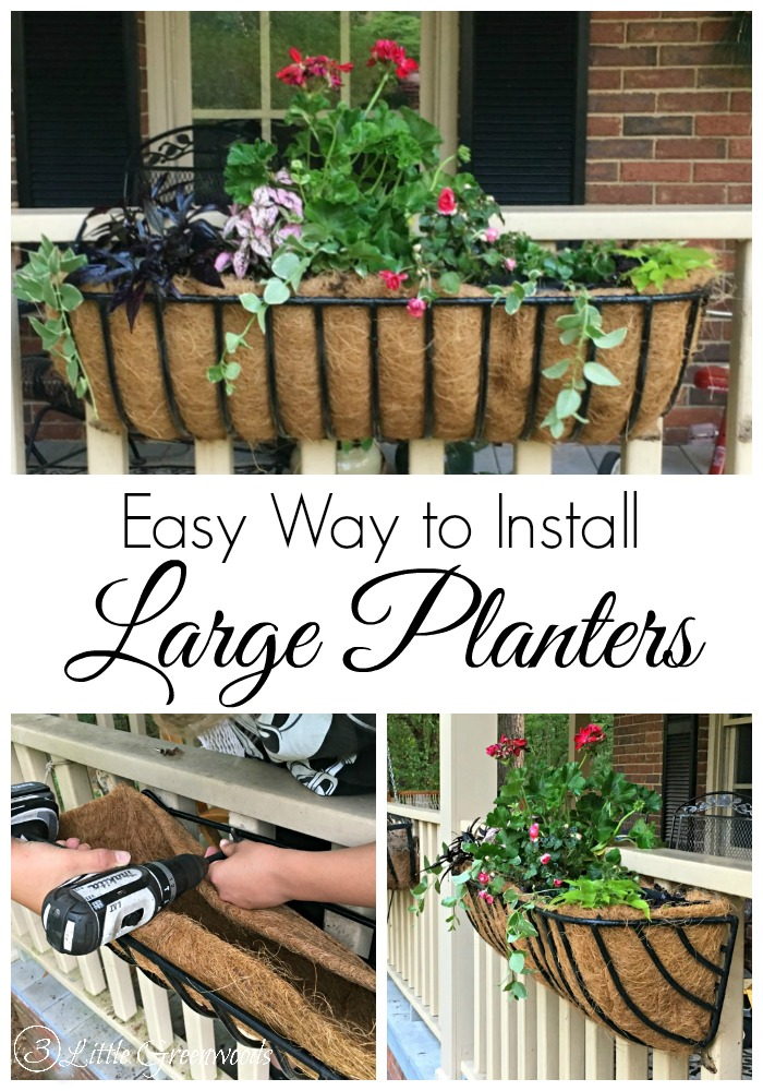 Add a big POW of colorful plants to your summer front porch! Install a trough planter on your front porch railing. #TroughPlanter #LargePlanter #SummerFrontPorch