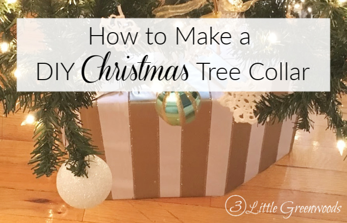 How to Make a DIY Christmas Tree Collar