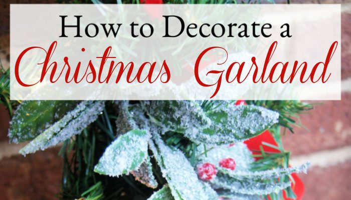 Follow these step-by-step instructions to make a gorgeous Christmas garland with lights! DIY Christmas garland to decorate your home for the holidays. No experience needed! This simple Christmas decorating tutorial will show you how!