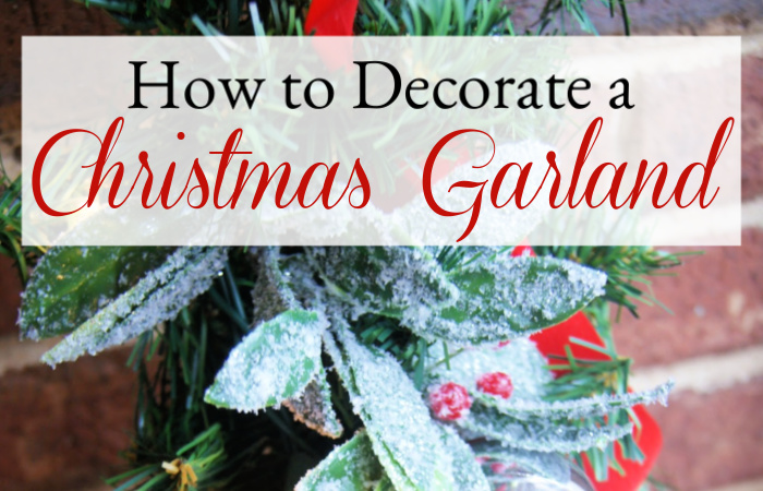 How to Decorate Christmas Garland with Lights