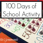 100 Days of School Activity for Preschool: Hershey Kisses Scavenger Hunt