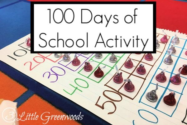Hershey Kisses Scavenger Hunt is an awesome 100 Days of School Activity Preschool! Tips and Tricks for planning a fun 100 day lesson.