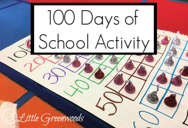 100 Days of School Activity for Preschool: Hershey Kisses Scavenger Hunt