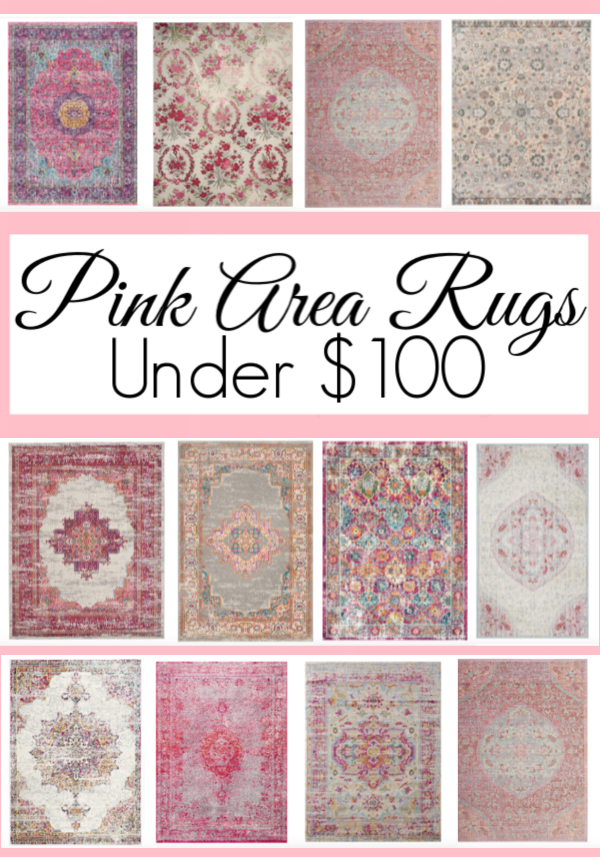 12 Pink Area Rugs Under $100 - 3 Little Greenwoods