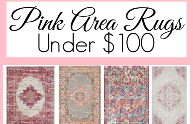 Pink Area Rugs for under $100