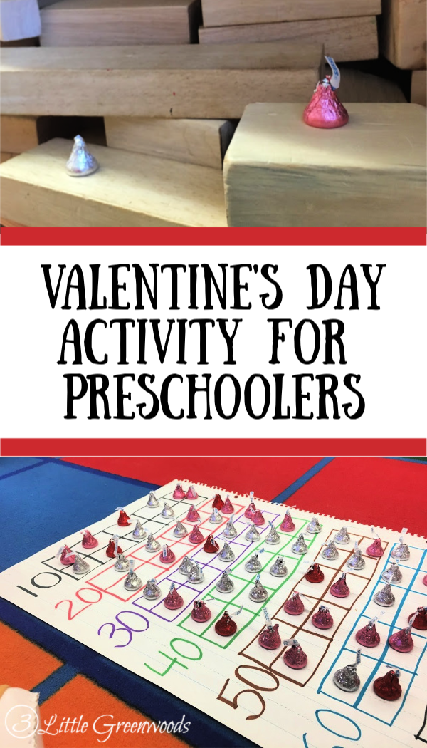 Hershey Kisses Scavenger Hunt is an awesome Valentine's Day Activity for Preschool! Tips and Tricks for planning a fun Valentine's Day game.