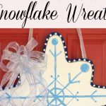 DIY Dollar Store Snowflake Wreath