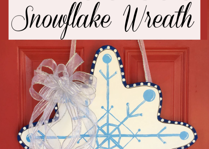 How to Make a DIY Dollar Store Snowflake Wreath