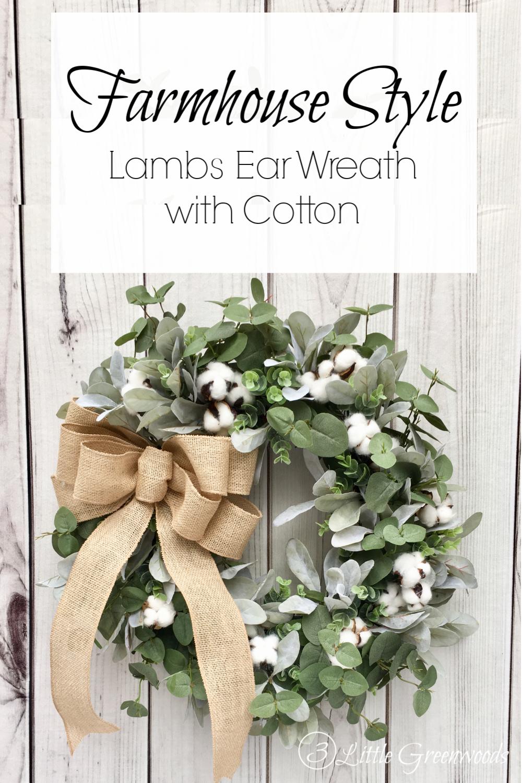 lambs ear wreath cotton