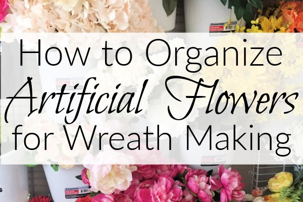 DIY Artificial Flower Storage