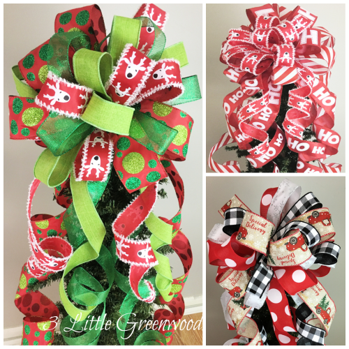 Add a designer look to your Christmas tree with a handmade bow!