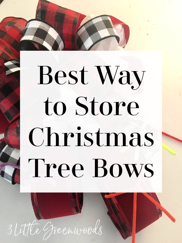 How to Store Christmas Tree Bows