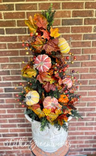 DIY Fall Topiary Tree