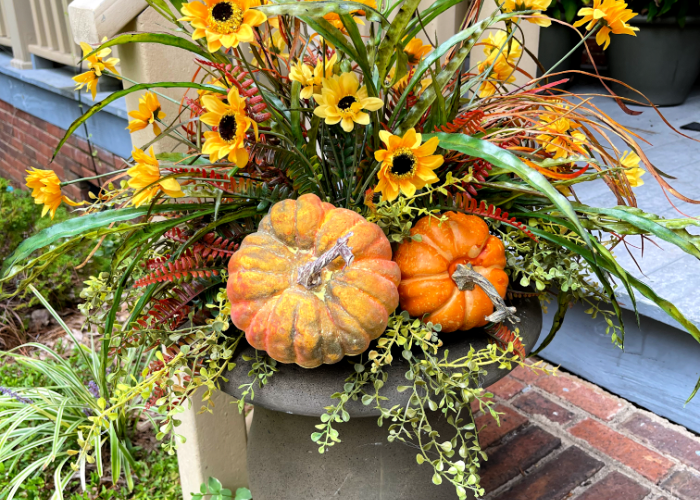 Fall Planter Ideas for Front Porch Decorating